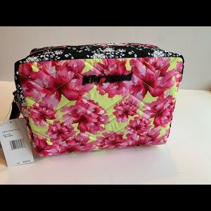 Betsey Johnson Floral XL Travel Cosmetic Bag